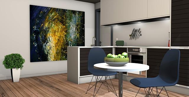 kuchyně, jídelna, obraz